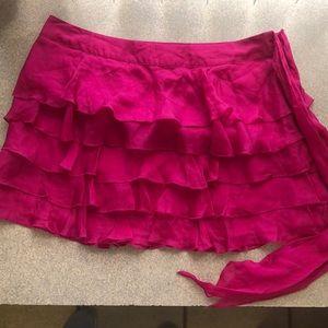 Wet seal ruffled mini skirt